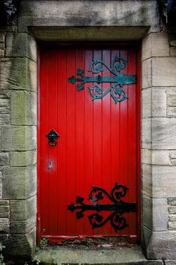 Richard Nixon RED DOOR WITH IRON HINGES Building Detail