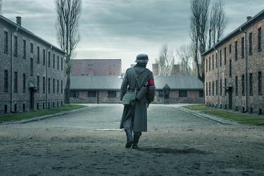CollaborationJS NAZI SOLDIER PATROLLING PRISON CAMP Men