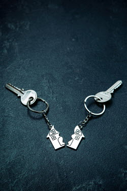 Magdalena Russocka divided house key rings with keys