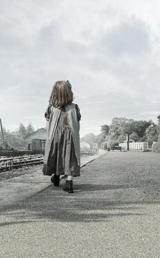 Stephen Mulcahey HISTORICAL LITTLE GIRL ON RAILWAY PLATFORM Children