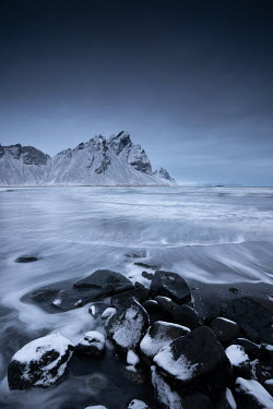 Ollie Taylor MOUNTAINS AND ROCKS BY SEA IN WINTER Seascapes/Beaches