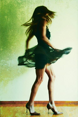 Irene Lamprakou Women dancing in dress and heels Women