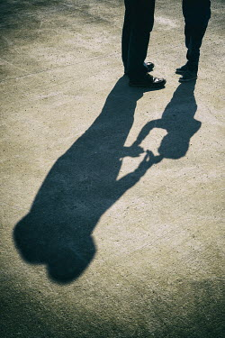 Mohamad Itani SHADOWS OF FATHER AND SON OUTDOORS Children