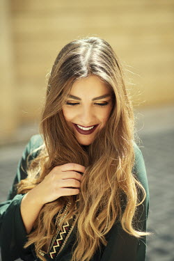 Mohamad Itani SMILING HAPPY GIRL WITH LONG HAIR OUTDOORS Women