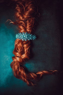 Ildiko Neer Close up of plaited red hair Miscellaneous Objects