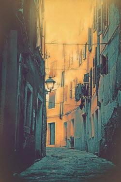 Irene Lamprakou NARROW STREET IN OLD TOWN AT DUSK Streets/Alleys