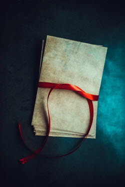 Ildiko Neer Old envelops with red ribbon Miscellaneous Objects
