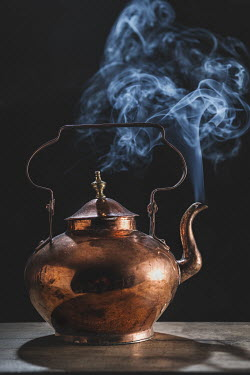 Magdalena Wasiczek OLD COPPER TEAPOT WITH STEAM Miscellaneous Objects