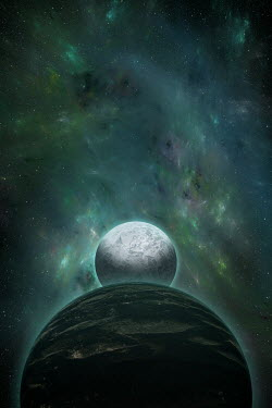 Andrei Cosma TWO PLANETS AND LIGHTS IN SPACE Rocks/Mountains