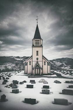 Evelina Kremsdorf SMALL CHURCH AND GRAVEYARD IN SNOW