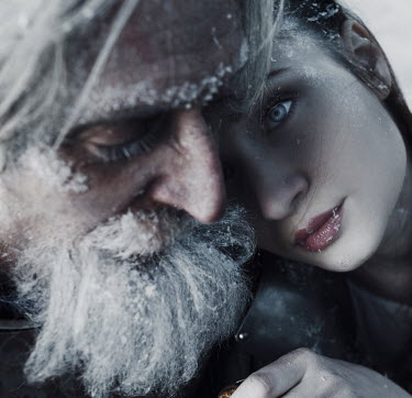 Kirill Sakryukin Frozen old man and young woman Groups/Crowds