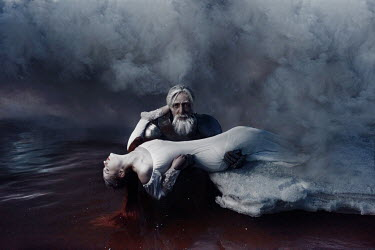 Kirill Sakryukin Old man holding woman in water Groups/Crowds