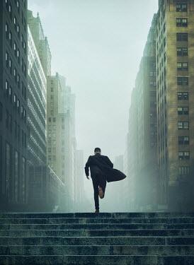 Mark Owen Man running through city Men