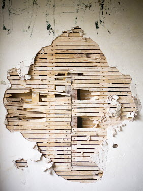 David Baker SMASHED WALL WITH WOOD AND PLASTER Building Detail