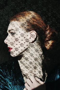 Giovan Battista D'Achille PROFILE OF WOMAN IN VEIL Women
