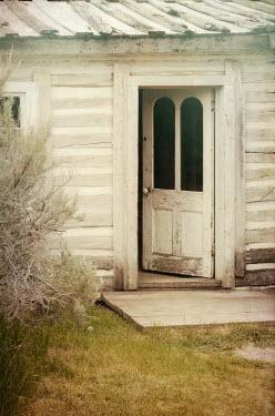 Jill Battaglia WOODEN COTTAGE WITH OPEN DOOR Houses