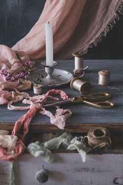 Magdalena Wasiczek CANDLE AND COTTON REELS Miscellaneous Objects