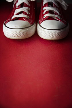 Galya Ivanova CLOSE UP OF RED PAIR OF PUMPS Miscellaneous Objects