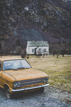 Des Panteva ABANDONED CAR AND COTTAGE BY MOUNTAIN Cars