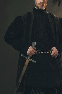 Ysbrand Cosijn HISTORICAL MAN HOLDING SWORD Men