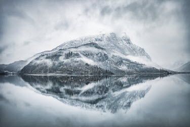 Evelina Kremsdorf MOUNTAIN REFLECTED IN WATER Rocks/Mountains