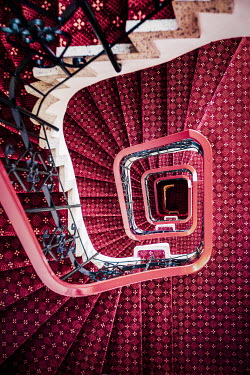Evelina Kremsdorf SPIRAL STAIRCASE AND RED CARPETS Stairs/Steps