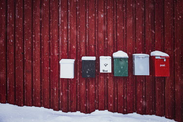 Evelina Kremsdorf POST BOXES IN THE SNOW Miscellaneous Objects
