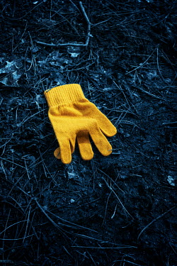 Stephen Mulcahey CHILDS YELLOW GLOVE ON GROUND Miscellaneous Objects