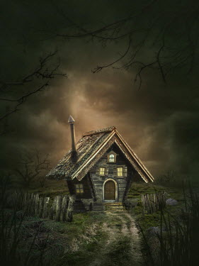 Elena Schweitzer Small house in eerie countryside Houses