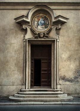 Jaroslaw Blaminsky ENTRANCE TO CHURCH IN ROME Religious Buildings