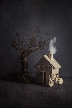 Kelly Sillaste MINIATURE HOUSE AND BICYCLE Miscellaneous Objects