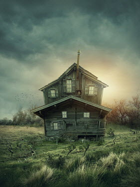 Elena Schweitzer Haunted house in countryside Houses