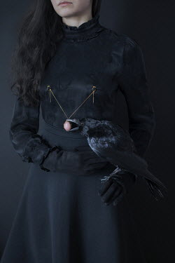 Iness Rychlik WOMAN WITH RAVEN AND NECKLACE Women