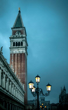 Michael Trevillion ST MARK'S SQUARE TOWER AT DUSK Miscellaneous Cities/Towns