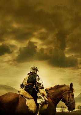 Stephen Mulcahey KNIGHT ON HORSEBACK WITH STORMY SKY Men