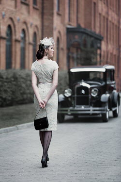 Magdalena Russocka retro woman and classic car