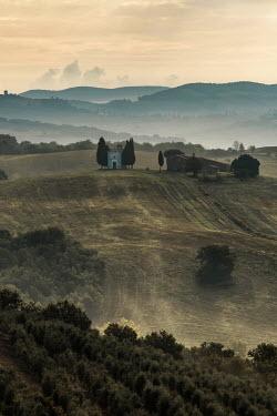 Jaroslaw Blaminsky CHAPEL IN ITALIAN LANDSCAPE AT DUSK Fields
