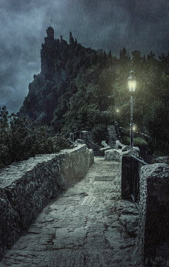 Jaroslaw Blaminsky STONE PATHWAY TO CASTLE ON HILLTOP Paths/Tracks