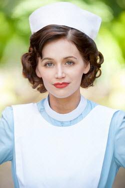 Lee Avison portrait of a 1940s nurse