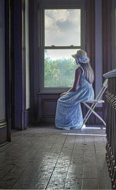 Terry Bidgood Girl sat looking out of window Women