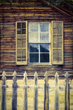 Jill Battaglia Window with shutters on building Miscellaneous Buildings