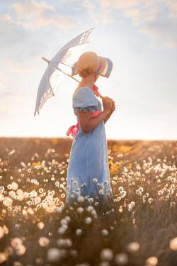 Lee Avison regency woman in cotton grass field Women