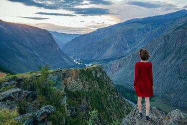Alexander Kuzovkov Girl standing on mountain Women