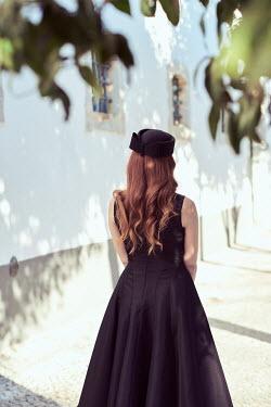 Chris Reeve Retro woman in black dress Women