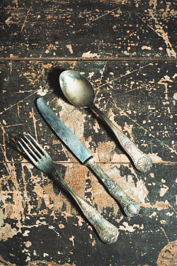 Ysbrand Cosijn ANTIQUE CUTLERY ON WOODEN TABLE Miscellaneous Objects