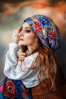 Kamil Akca PROFILE OF THOUGHTFUL GYPSY WOMAN Women