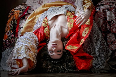 Kamil Akca HISTORICAL WOMAN LYING WITH EYES CLOSED Women
