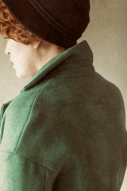 Rekha Garton RETEO WOMAN IN GREEN COAT AND HAT Women