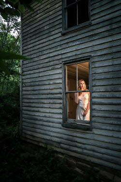 Stephen Carroll WOMAN IN NIGHTDRESS STANDING BY WINDOW Women