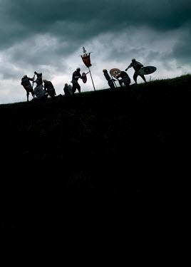 Stephen Mulcahey ROMAN SOLDIERS FIGHTING ON HILL Men